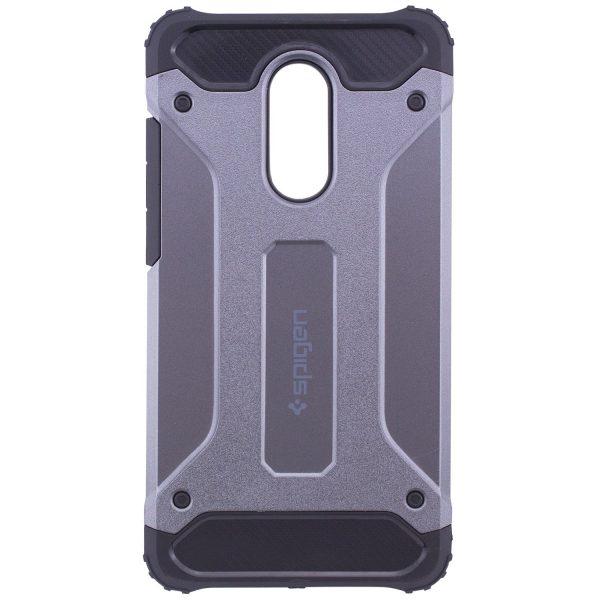 Серый противоударный (ударопрочный) бронированный чехол (бампер) Spigen для Xiaomi Redmi Note 4x / Note 4 (Snapdragon) (Grey)