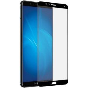 Цветное защитное стекло 2.5d full cover (на весь экран) для Huawei Honor 7x (Black)
