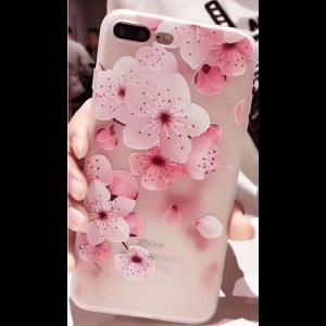 "TPU чехол матовый soft touch для Apple iPhone 7 plus / 8 plus (5.5"") Сакура (крупный рисунок)"