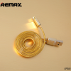 Дата кабель Remax Gold lightning для Apple iPhone 5/5s/5c/SE/6/6 Plus/6s/6s Plus /7/7 Plus 1m (Gold)