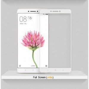 Цветное защитное стекло 2.5d full cover (на весь экран) для Xiaomi Mi Max 2 (White)
