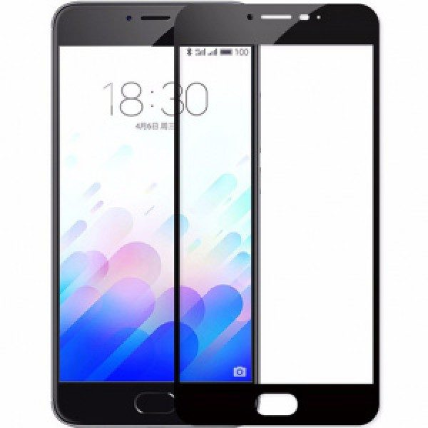 Защитное стекло 2.5d full cover (на весь экран) для Meizu M3s / m3 / m3 mini (black)