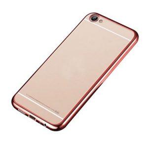 Защитный силиконовый прозрачный чехол с глянцевым розовым ободком для Meizu U10