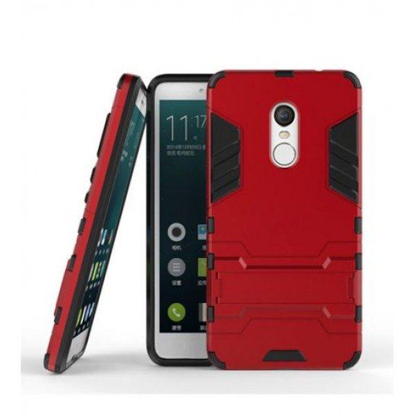 Ударопрочный чехол-подставка Transformer для Redmi Note 4X / Note 4 (SD) с мощной защитой корпуса Красный / Dante Red
