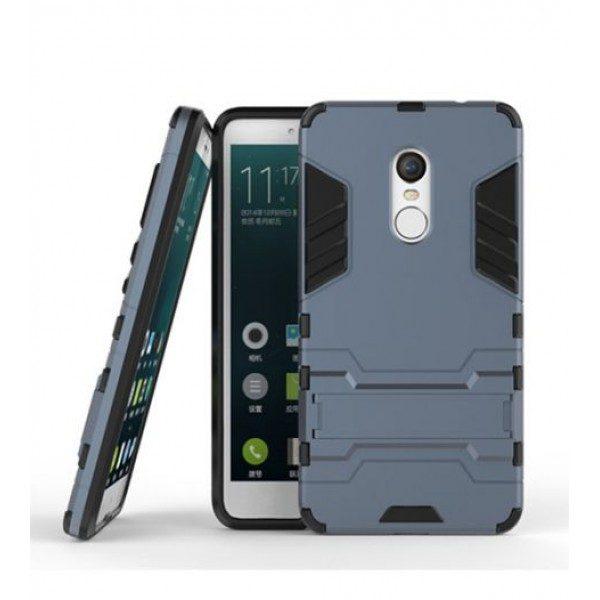Ударопрочный чехол-подставка Transformer для Redmi Note 4X / Note 4 (SD) с мощной защитой корпуса Металл / Gun Metal