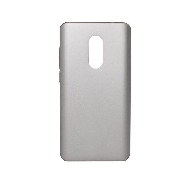 Пластиковая накладка soft-touch с защитой торцов Joyroom для Xiaomi Redmi Note 4 (MTK) (Silver)