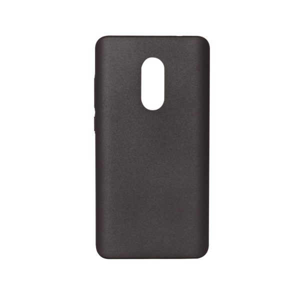 Пластиковая накладка soft-touch с защитой торцов для Xiaomi Redmi Note 4 (MTK) (Black)