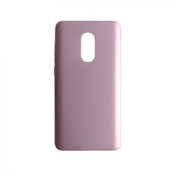 Пластиковая накладка soft-touch с защитой торцов Joyroom для Xiaomi Redmi Note 4 (MTK) (Pink)