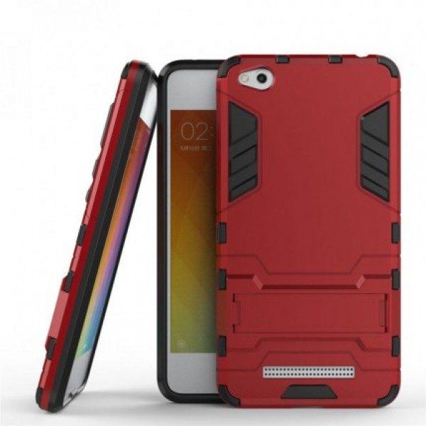 Ударопрочный чехол-подставка Transformer для Xiaomi Redmi 4a с мощной защитой корпуса Красный / Dante Red