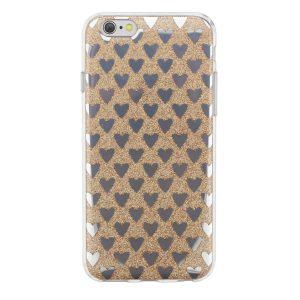 """Cияющий TPU чехол с сердечками для Apple iPhone 6/6s (4.7"""") Золотой"""