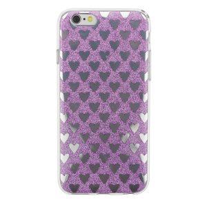 """Cияющий TPU чехол с сердечками для Apple iPhone 6/6s (4.7"""") Фиолетовый"""