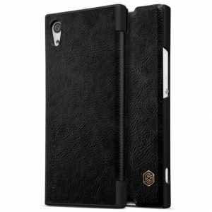 Кожаный чехол (книжка) Nillkin Qin Series для Sony Xperia XA1 / XA1 Dual (Черный)