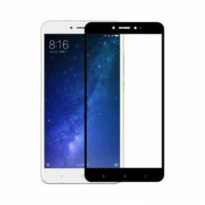 Цветное защитное стекло 2.5d full cover (на весь экран) для Xiaomi Mi Max 2 (Black)