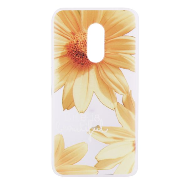 TPU чехол матовый soft touch для Xiaomi Redmi Note 4X / Note 4 (SD) Желтые Ромашки