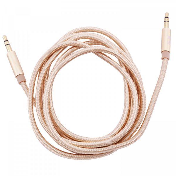 Аудио кабель плетеный Aux (3,5 – 3,5 / Jack-Jack) (1м) Золотой