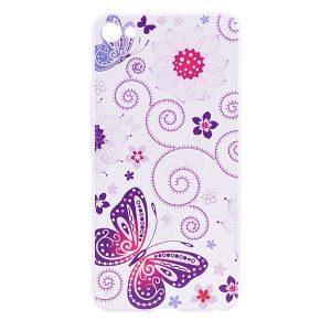 TPU чехол Cute Print для Meizu U10 (Flowers and Butterfly)