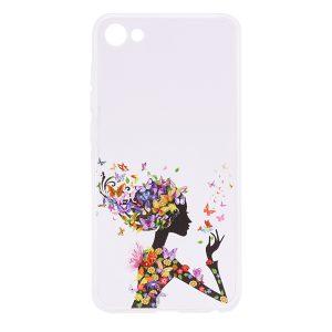 TPU чехол Cute Print для Meizu U10 (Girl (Butterfly colors))