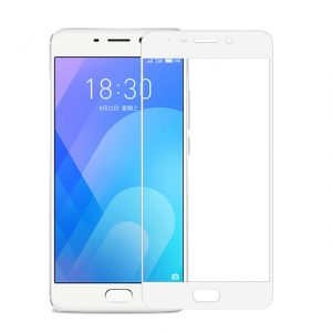 Цветное защитное стекло 2.5D CP+ на весь экран для Meizu M6 Note (White)