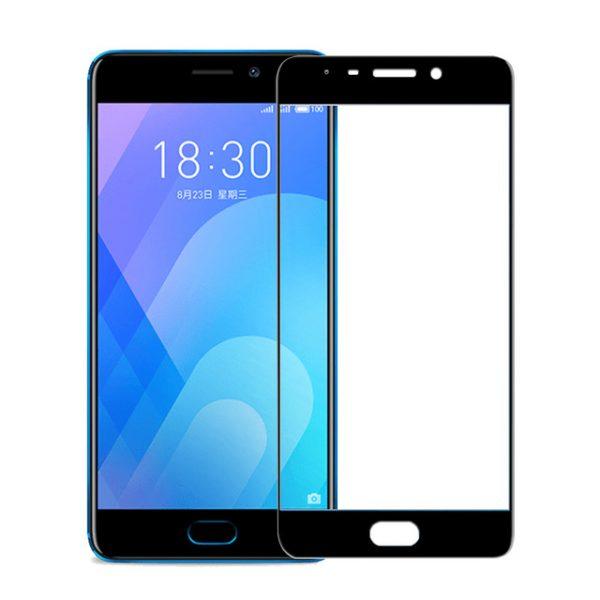 Цветное защитное стекло 2.5D CP+ на весь экран для Meizu M6 Note (Black)