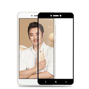 Цветное защитное стекло 2.5D на весь экран для Xiaomi Redmi Note 5A Pro/ Redmi Note 5A Prime/Redmi Y1  (Black)