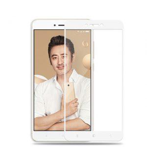 Цветное защитное стекло 2.5D на весь экран для  Xiaomi Redmi Note 5A Pro/ Redmi Note 5A Prime/Redmi Y1 (White)