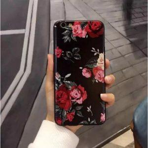 """TPU чехол OMEVE Pictures для Apple iPhone 7 plus / 8 plus (5.5"""") Красные розы (черный фон)"""