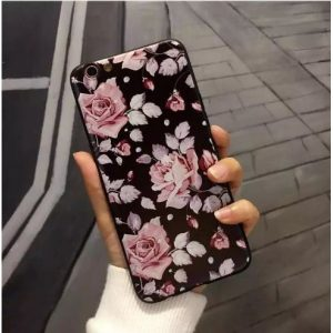 "TPU чехол OMEVE Pictures для Apple iPhone 7 plus / 8 plus (5.5"") Розовые розы (черный фон)"
