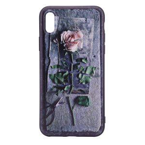 "TPU чехол OMEVE Pictures для Apple iPhone X (5.8"") 3D роза"