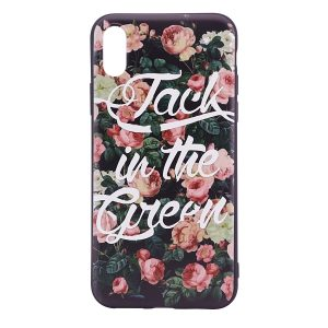 """TPU чехол OMEVE Pictures для Apple iPhone X (5.8"""") Jack in the green"""