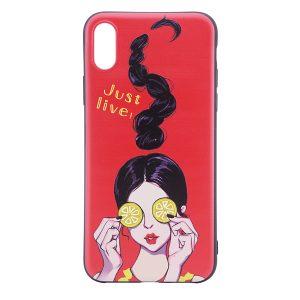 "TPU чехол OMEVE Pictures для Apple iPhone X (5.8"") Just live"