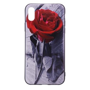 "TPU чехол OMEVE Pictures для Apple iPhone X (5.8"") Красная роза"