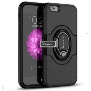 "TPU+PC чехол iPaky Feather с имитацией кожи и подставкой для Apple iPhone 6/6s (4.7"") Черный"