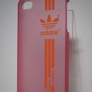 Защитный пластиковый  матовый розовый чехол Adidas для Iphone 4