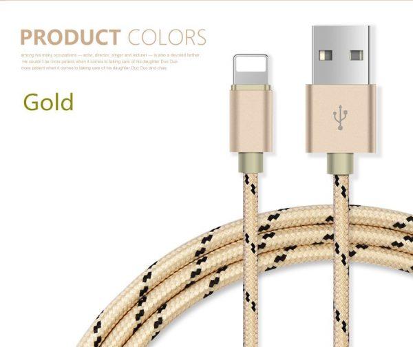 Usb кабель Lightning для Iphone, Ipad (gold)