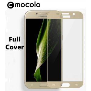Защитное цветное стекло Mocolo (CP+) на весь экран для Samsung A320 Galaxy A3 (2017) Gold
