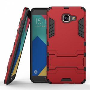 Ударопрочный чехол-подставка Transformer для Samsung A510F Galaxy A5 (2016) с мощной защитой корпуса (Красный / Dante Red)