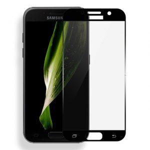 Защитное стекло 2.5D CP+ на весь экран (цветное) для Samsung A720 Galaxy A7 (2017) Black
