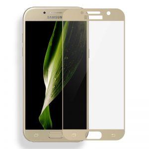 Защитное стекло 2.5D CP+ на весь экран (цветное) для Samsung A720 Galaxy A7 (2017) Gold