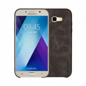 Кожаная накладка T-phox Vintage series (матовый) для Samsung A720 Galaxy A7 (2017) Коричневый
