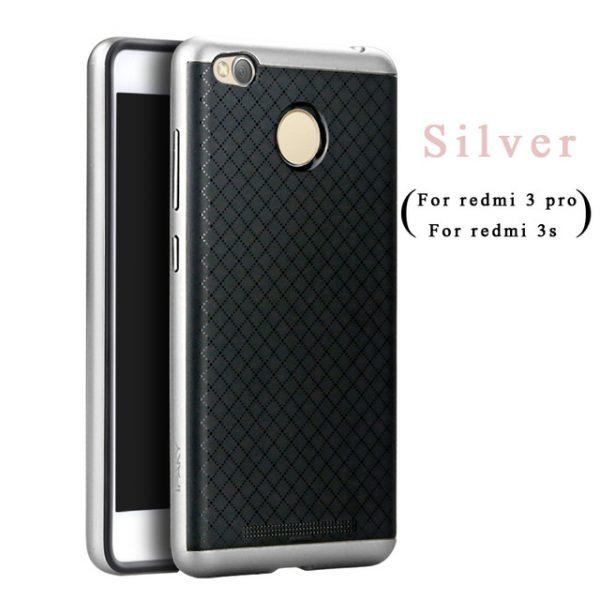 Фирменный чехол бампер iPaky TPU (силикон) + PC черно – серебряный для Xiaomi Redmi 3s / 3 Pro
