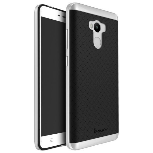 Фирменный чехол бампер iPaky TPU (силикон) + PC черно – серебряный для Xiaomi Redmi 4 Pro / 4 Prime