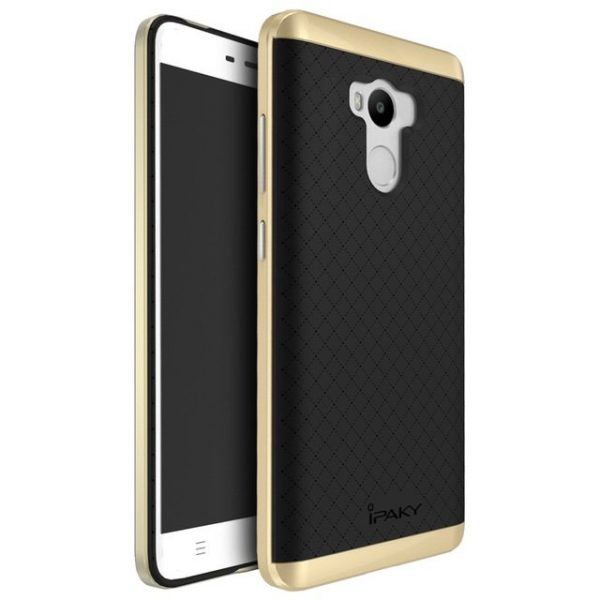 Фирменный чехол бампер iPaky TPU (силикон) + PC черно – золотой для Xiaomi Redmi 4 Pro / 4 Prime