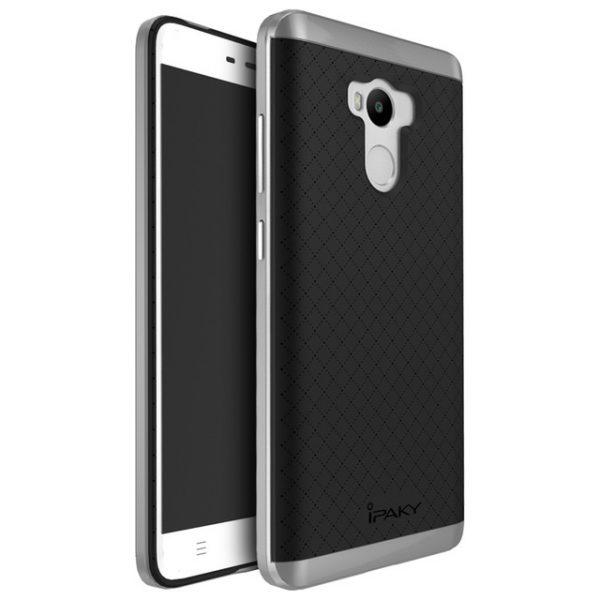 Фирменный чехол бампер iPaky TPU (силикон) + PC черно – серый для Xiaomi Redmi 4 Pro / 4 Prime