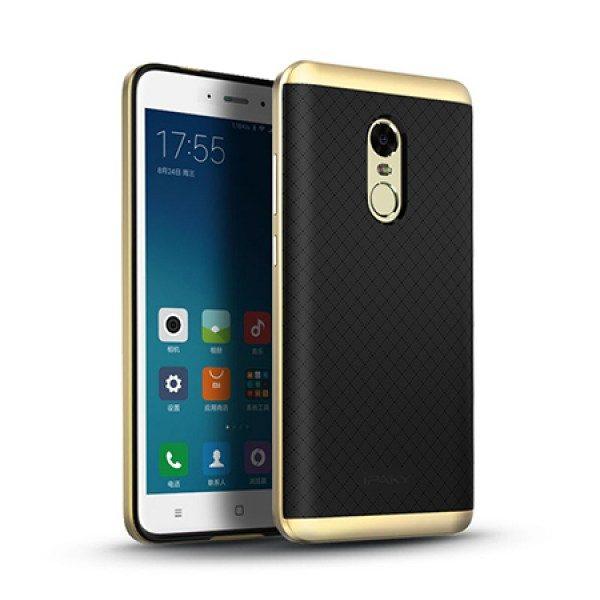 Фирменный чехол бампер iPaky TPU (силикон) + PC черно – золотой для Xiaomi Redmi Note 4