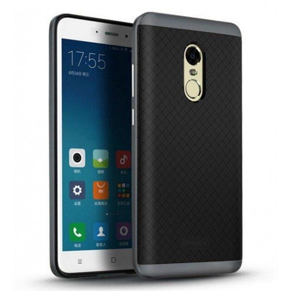 Фирменный чехол бампер iPaky TPU (силикон) + PC черно – серый для Xiaomi Redmi Note 4