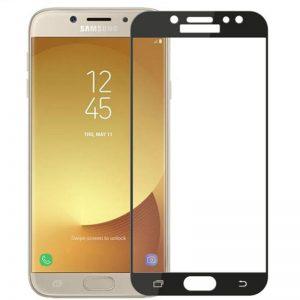Защитное цветное стекло Mocolo (CP+) на весь экран для Samsung J330 Galaxy J3 (2017) Черный
