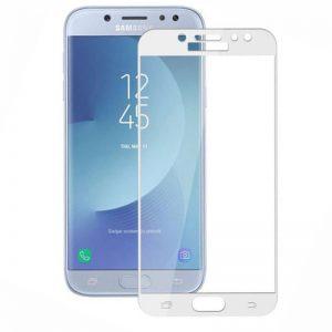 Защитное цветное стекло Mocolo (CP+) на весь экран для Samsung J330 Galaxy J3 (2017) White