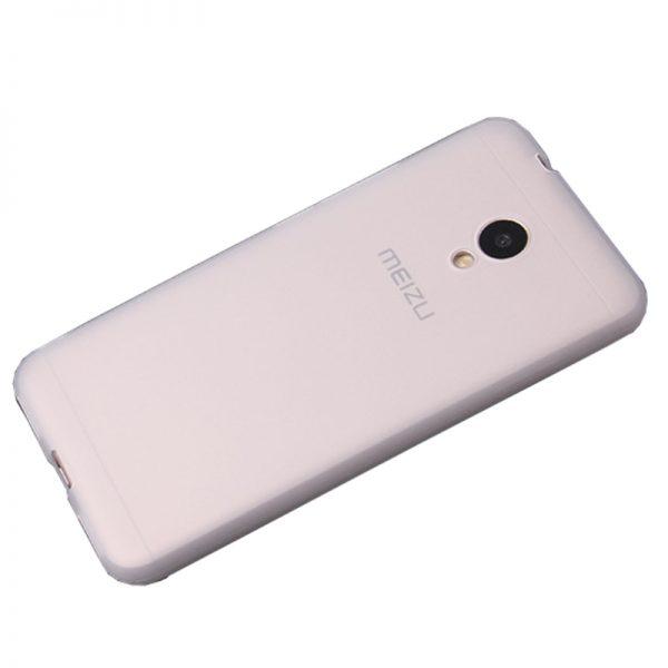 Силиконовый чехол Candy для Meizu M6s (Белый)