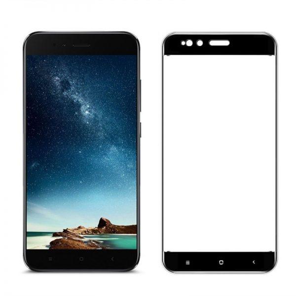 Защитное стекло  3D (на весь экран) для Xiaomi Mi 5X / Mi A1 (Черный)