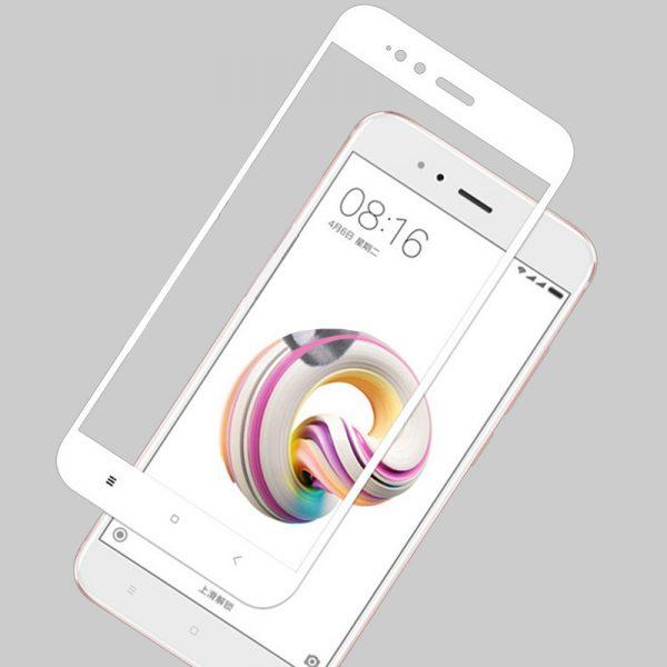 Защитное цветное стекло Mocolo (CP+) на весь экран для Xiaomi Mi 5X / Mi A1 (Белый)